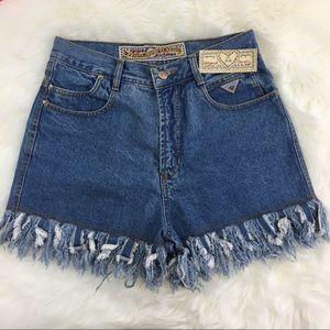 Vintage JouJou High-Waist Bojo Jean Shorts New 28
